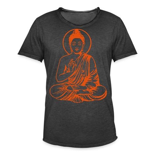 Buddha-Vektor-Outline - Männer Vintage T-Shirt