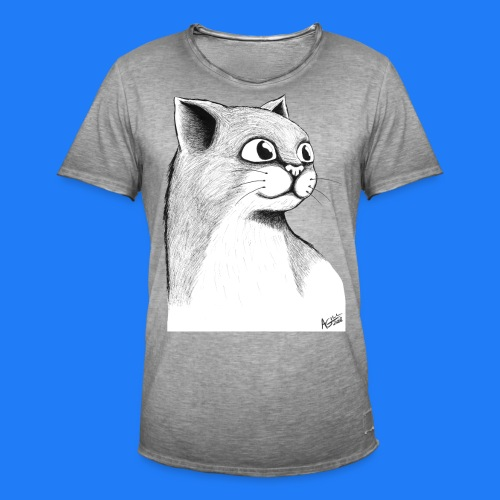 CAT HEAD by AGILL - T-shirt vintage Homme