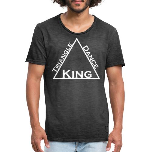 Triangle Dreieck Dance Tanz King König - Männer Vintage T-Shirt