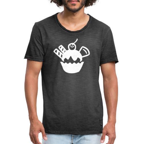 Eis und Eiscreme Symbol - Männer Vintage T-Shirt