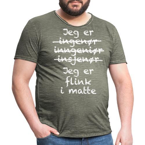 Flink i matte - Vintage-T-skjorte for menn