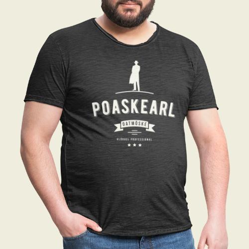 Poaskearl Oatmöske - Mannen Vintage T-shirt