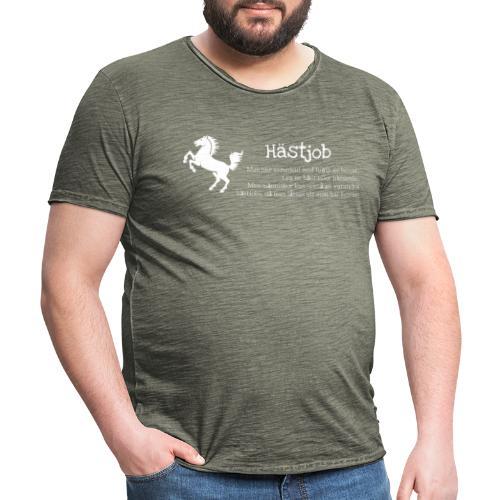 Hästjob - Vintage-T-shirt herr