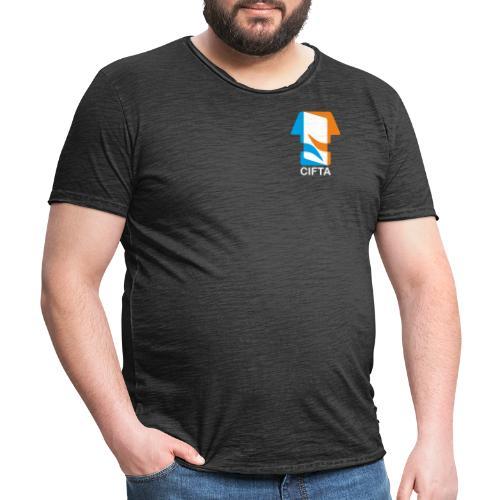 Logo CIFTA final letra blanco - Camiseta vintage hombre