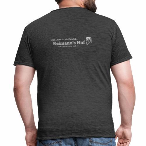 Reimann' Hof Islandpferd beidseitig - Männer Vintage T-Shirt
