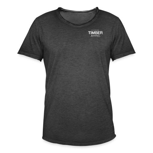 White black border no bg - Men's Vintage T-Shirt