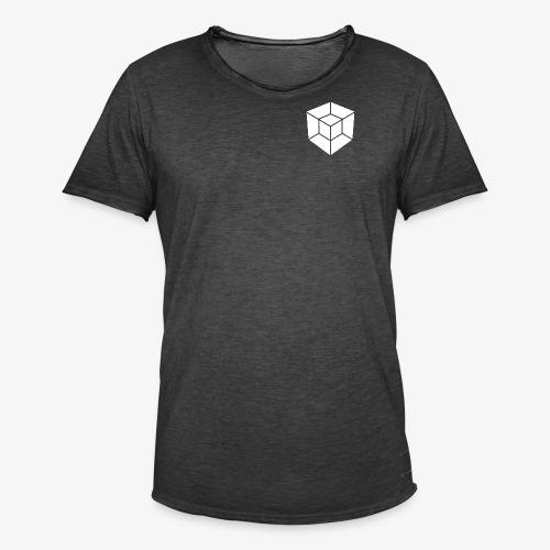 WHITE // LOGO ONLY - Men's Vintage T-Shirt