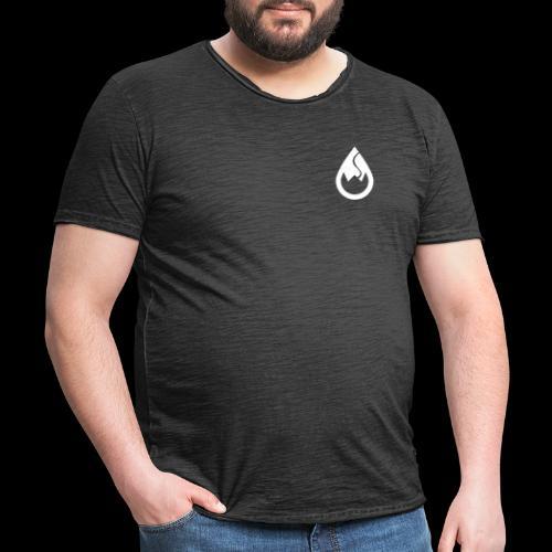 WS-Crew Tropfen-Logo weiß - Männer Vintage T-Shirt