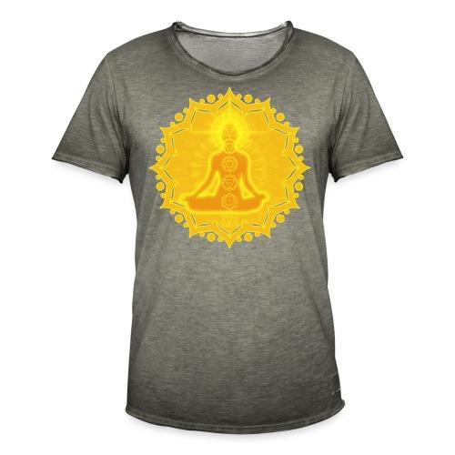 Yoga Lotus Meditation Chakren III - Männer Vintage T-Shirt