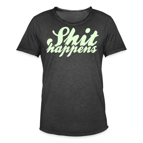 Shit Happens and Politics - Men's Vintage T-Shirt