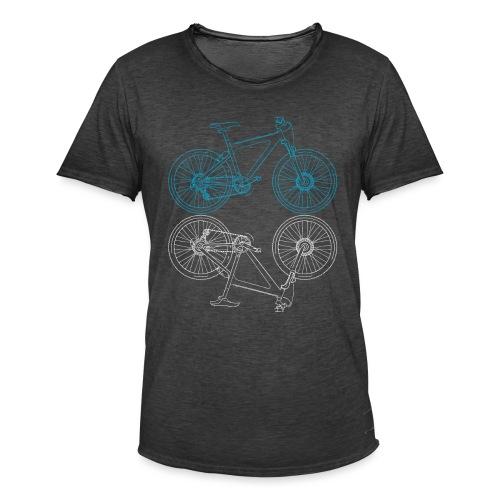 Mountainbike Fahrrad Radsport Skizze - Männer Vintage T-Shirt