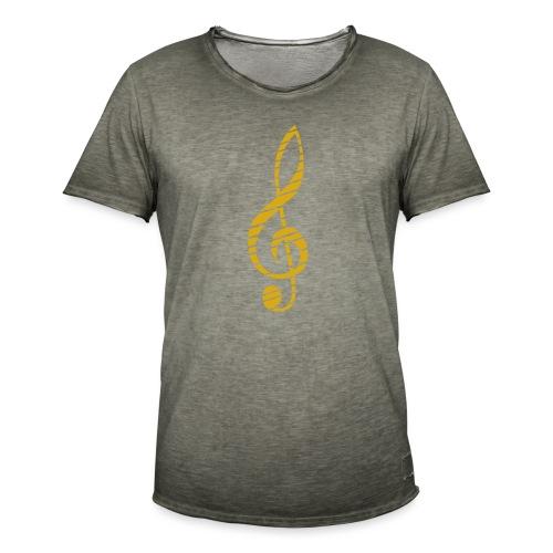 Goldenes Musik Schlüssel Symbol Chopped Up - Men's Vintage T-Shirt
