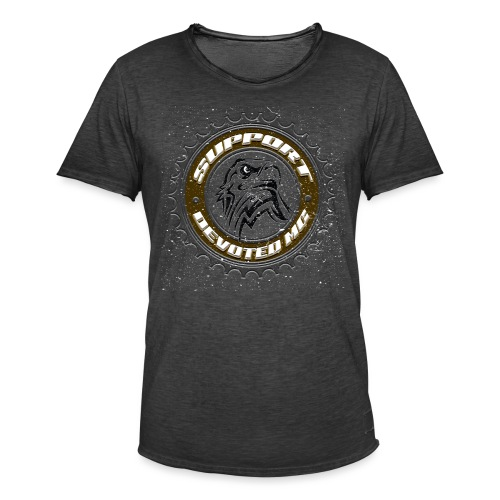Sprocket Support - Vintage-T-skjorte for menn
