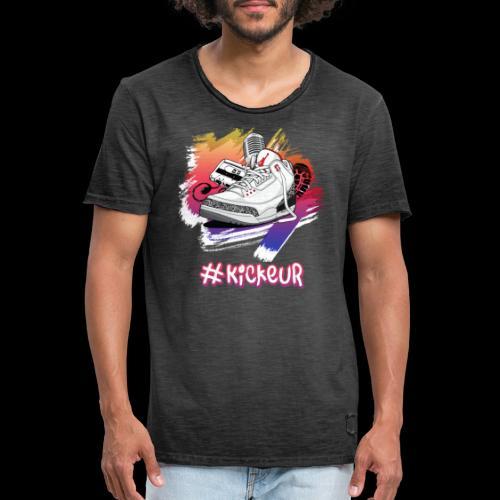 #Kickeur Blanc - T-shirt vintage Homme