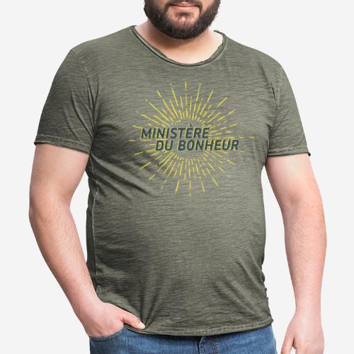 Ministère du Bonheur - T-shirt vintage Homme