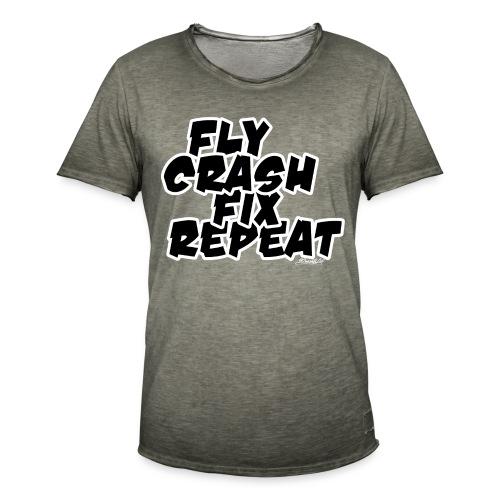 FlyCrashFixRepeat signed - Men's Vintage T-Shirt