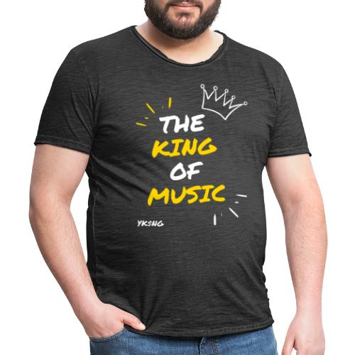 The king Of Music - Camiseta vintage hombre