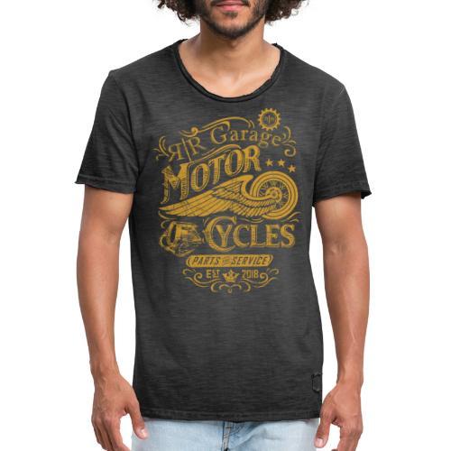 RR GARAGE GOLD EDITION - Maglietta vintage da uomo