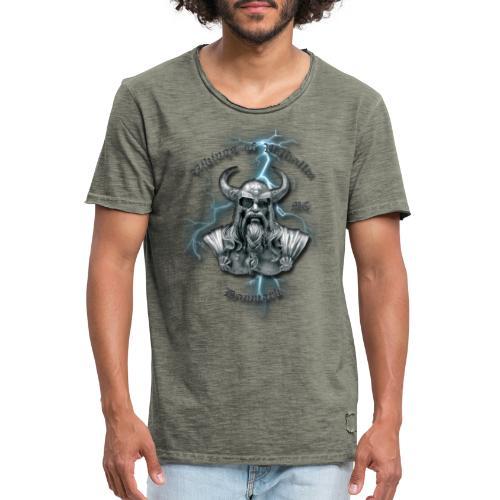 Fuld ryg lyn png - Herre vintage T-shirt