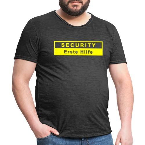 Security & Erste Hilfe, gelb - Männer Vintage T-Shirt