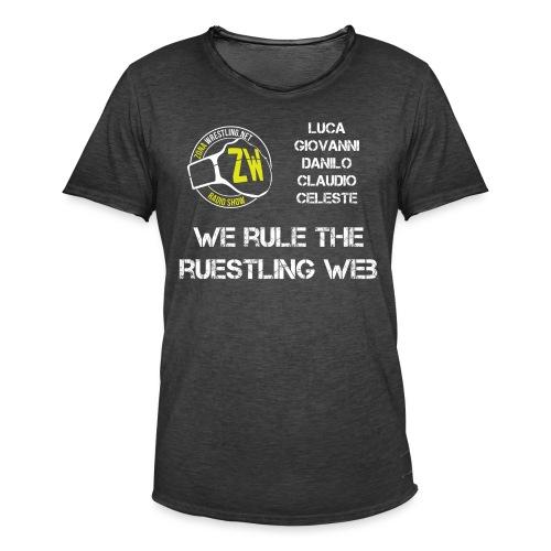 We Rule The Ruestling Web - Maglietta vintage da uomo