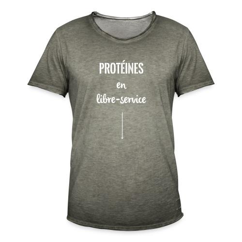 proteines libre service - T-shirt vintage Homme