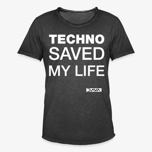 Techno Saves lives - white - Men's Vintage T-Shirt