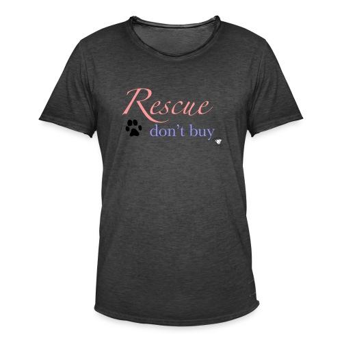 Rescue don't buy - Men's Vintage T-Shirt