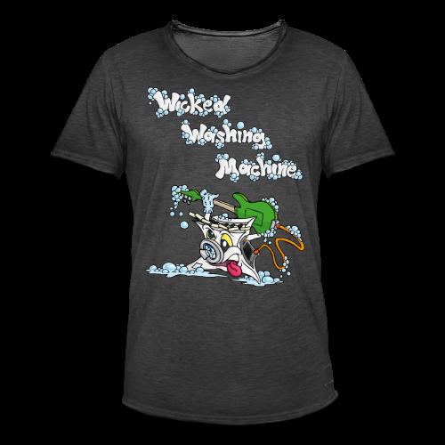 Wicked Washing Machine Cartoon and Logo - Mannen Vintage T-shirt