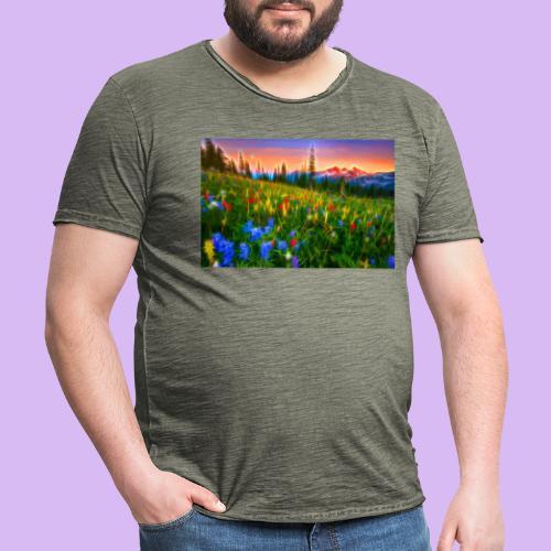 Bagliori in montagna - Maglietta vintage da uomo
