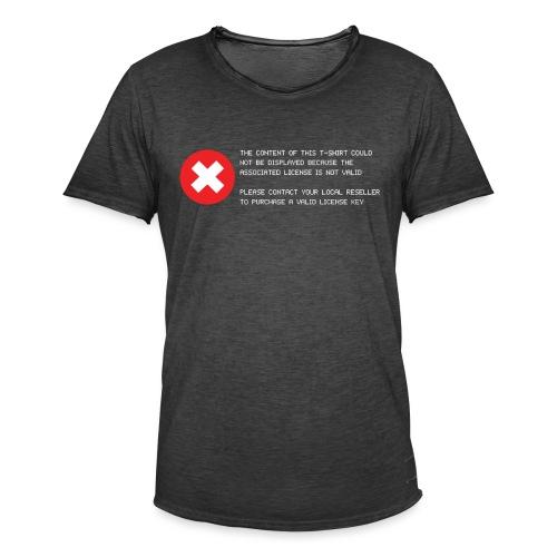 T-shirt Error - Maglietta vintage da uomo