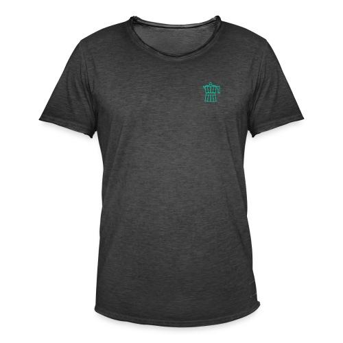 mokacoffeeappelblauwzeegroen - T-shirt vintage Homme