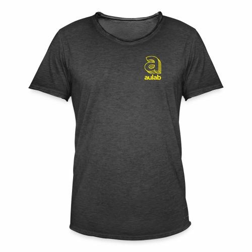 Marchio aulab giallo - Maglietta vintage da uomo