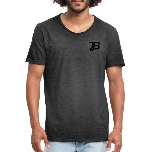 TJB Logo Gradient schwarz - Männer Vintage T-Shirt