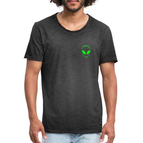 Alien Face Cool - Men's Vintage T-Shirt