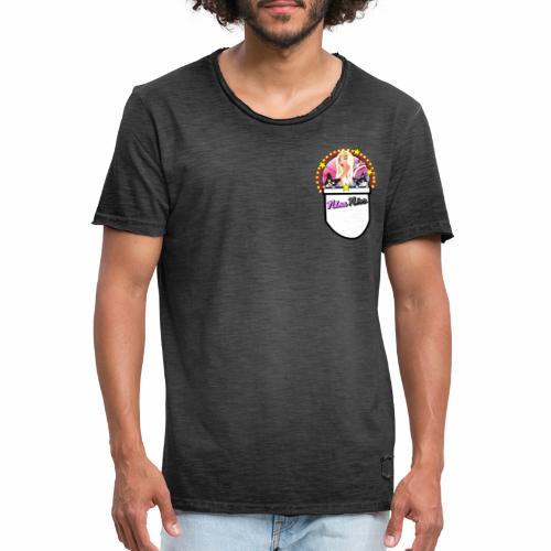 Nina Nice Pocket - Männer Vintage T-Shirt