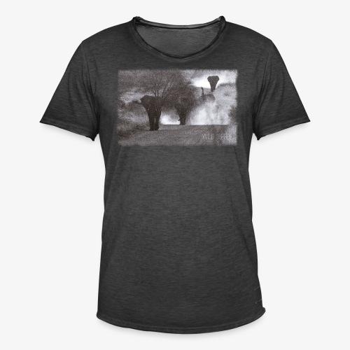 Elephants - Wild & Free - Männer Vintage T-Shirt