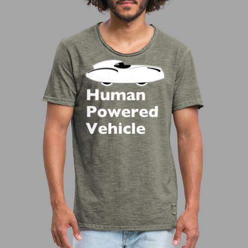 Quattrovelo Human Powered Vehicle white - Miesten vintage t-paita