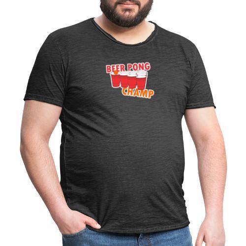 Beer Pong Champion - Männer Vintage T-Shirt