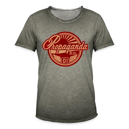 PROPAGANDA 01 RED - Men's Vintage T-Shirt