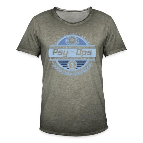 PSYCHOLOGICAL OPERATIONS BLUE - Men's Vintage T-Shirt