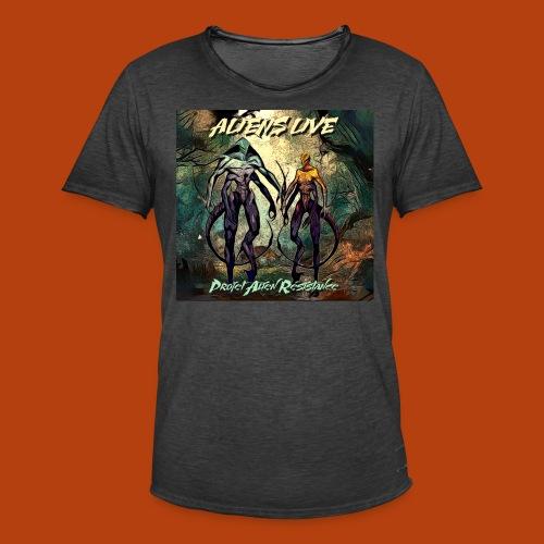 aliens live - T-shirt vintage Homme