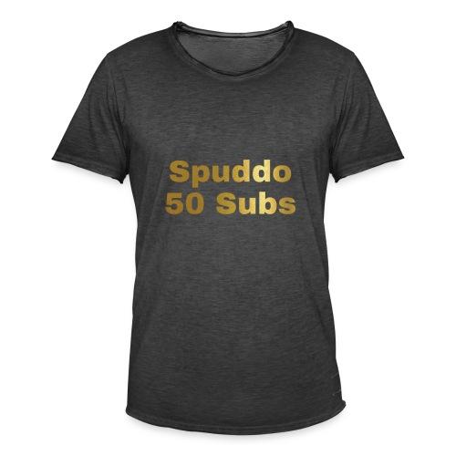 Spuddo 50 Subs Merch - Men's Vintage T-Shirt