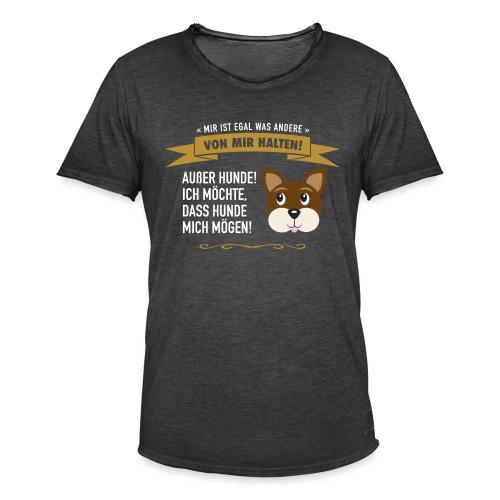 Hauptsache Hundeliebe! - Männer Vintage T-Shirt