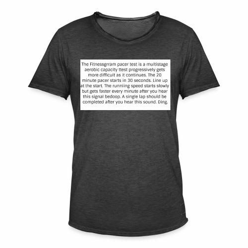 FitnessGram pacer Test - Men's Vintage T-Shirt
