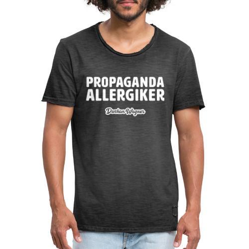 Propaganda Allergiker - Männer Vintage T-Shirt