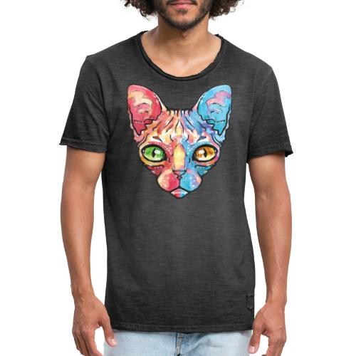 EgyptianCat - Männer Vintage T-Shirt