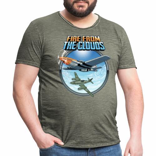 Le feu des nuages - T-shirt vintage Homme
