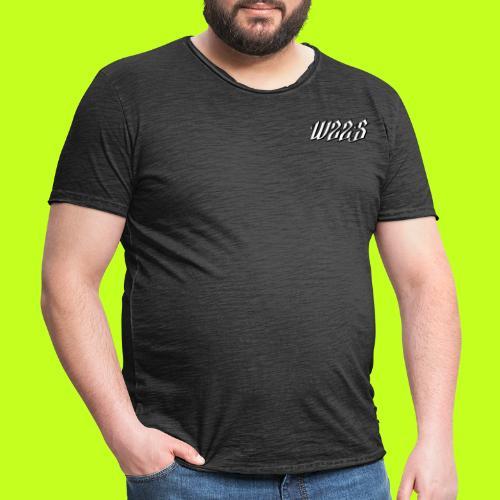 WZZS BIAŁE LOGO - Koszulka męska vintage