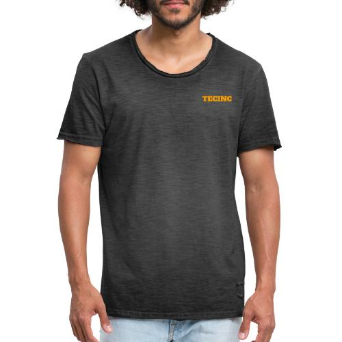 TecInc logo (Orange) - Herre vintage T-shirt